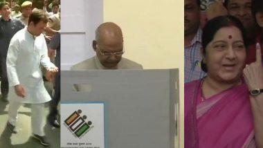 Lok Sabha Elections 2019 Phase 6:  राष्ट्रपती रामनाथ कोविंद, राहुल गांधी यांच्यासह अनेक दिग्गजांनी आज दिल्ली मध्ये बजावला मतदानाचा हक्क