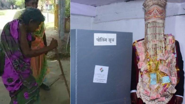 Lok Sabha Elections 2019 Phase 7:102 वर्षीय श्याम शरण नेगी ने बजावला मतदानाचा हक्क,नवरदेवही विवाहापूर्वी पोहचला मतदान केंद्रावर
