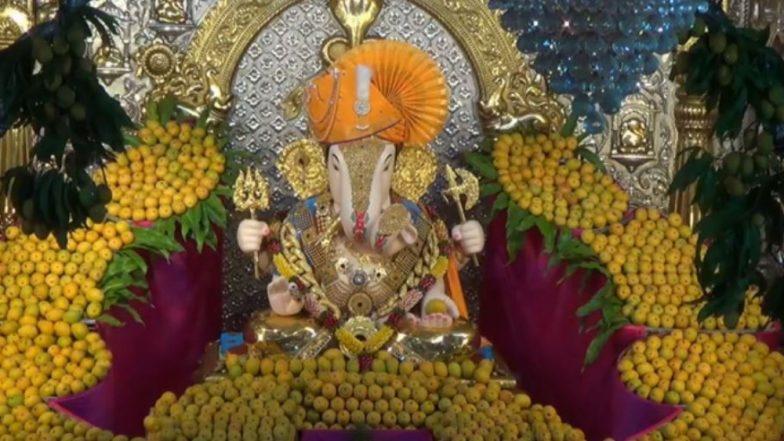 Akshaya Tritiya 2019: अक्षय्य तृतीया निमित्त पुणे येथील 'दगडूशेठ गणपती' ला 1100 आंब्याची आरास (Watch Video)