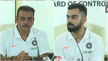 ICC Cricket World Cup 2019: विश्वचषकासाठी भारतीय संघ सज्ज, टीम इंडियाचे खेळाडू फॉर्ममध्ये; कर्णधार विराट कोहली याची रवी शास्त्री यांच्यासोबत पत्रकार परिषद