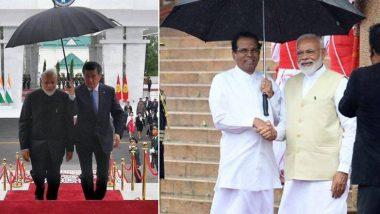 SCO Summit: जेव्हा पंतप्रधान नरेंद्र मोदी यांच्यासाठी दोन देशांचे राष्ट्रपती छत्री धरून उभे राहतात.. (See Photos)