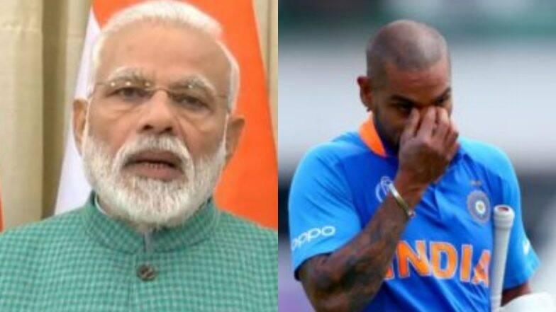 ICC World Cup 2019 मधून बाहेर पडल्यानंतर भावूक झालेल्या शिखर धवन साठी पंतप्रधान नरेंद्र मोदी यांचे खास ट्विट