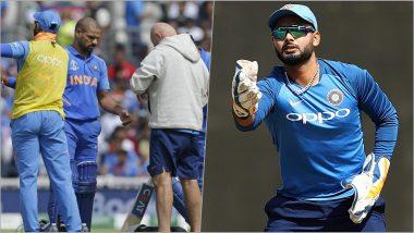 ICC World Cup 2019: शिखर धवनच्या जागी रिषभ पंतचा भारतीय संघात समावेश, सूत्रांची माहिती