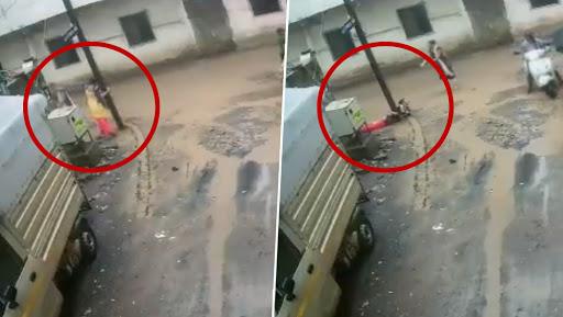 धक्कादायक! ओल्या विजेच्या खांबाला स्पर्श केल्याने युवतीचा जागीच मृत्यू; कुटुंबीयांनी केली अधिकाऱ्यांवर गुन्हा दाखल करण्याची मागणी (Video)