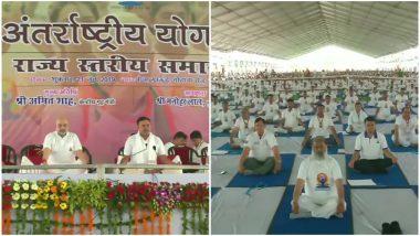 International Yoga Day 2019: अमित शाह परत फिरताच नागरिकांचा चटईवर डल्ला; योग दिन कार्यक्रमातील घटना
