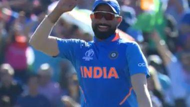 IND vs WI, ICC World Cup 2019: मोहम्मद शमी ने केले शेल्डन कॉटरेल च्या मिलिट्री स्टाइल सैल्यूट चे अनुकरण; विराट, चहल ला हसू अनावर झाले (Video)