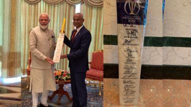 पंतप्रधान नरेंद्र मोदी मालदीव देशाच्या सर्वोच्च 'Rule of Nishan Izzuddeen' नागरी पुरस्काराने सन्मानित
