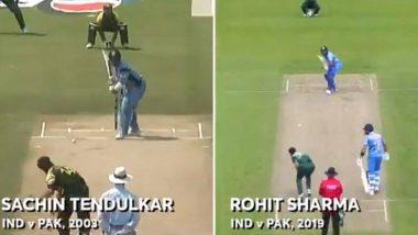 ICC World Cup 2019 मध्ये Ind Vs Pak दरम्यान सचिन तेंडुलकर सोबत तुलना झालेल्या रोहित शर्माच्या Upper Cut वर सचिनचा खास रिप्लाय