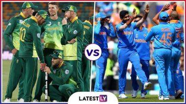 Live Cricket Streaming of India vs South Africa ICC World Cup 2019: भारत विरुद्ध दक्षिण आफ्रिका लाईव्ह सामना आणि स्कोर पहा Star Sports आणि Hotstar Online वर
