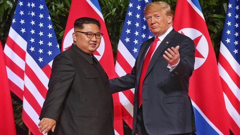 शत्रुत्व बाजूला सारून डोनाल्ड ट्रम्प यांनी घेतली हुकुमशाह  किम जोंग उन यांची भेट; उत्तर कोरियाला भेट देणारे पहिले अमेरिकन अध्यक्ष