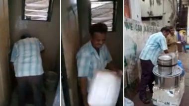 बोरिवली रेल्वे स्थानकाजवळील फेरीवाल्याकडून इडटलीची चटणी बनवण्यासाठी टॉयलेटच्या पाण्याचा वापर, कारवाई करण्याची मागणी (Video)