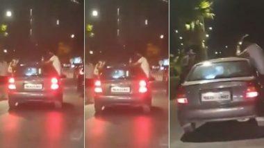 मुंबई: कार्टर रोड येथे तरुण मुलांची गाडीतून स्टंटबाजी, पोलिसांकडून अटक (Video)