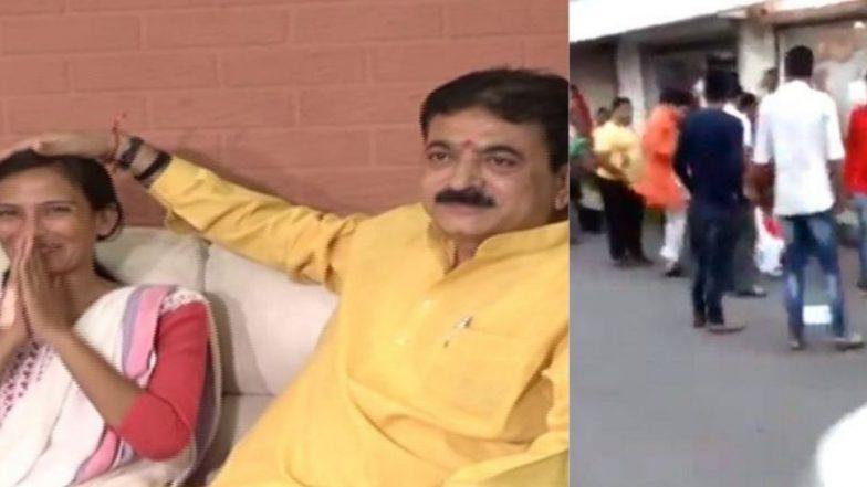 गुजरात BJP आमदाराने आधी लाथा मारलेल्या महिलेकडून बांधून घेतली राखी