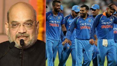 """IND vs PAK, ICC World Cup 2019: """"भारताचा पाकिस्तान वर आणखीन एक स्ट्राईक"""", अमित शहा यांचं टीम इंडियासाठी खास ट्विट"""