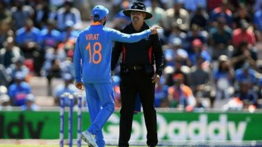 ICC Cricket World Cup 2019 मधील अफगाणिस्तान विरुद्धच्या सामन्यात नियमांचे उल्लंघन केल्याप्रकरणी विराट कोहली याच्या मानधनात 25% कपात