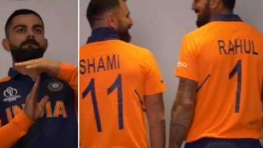 विराट कोहली, एमएस धोनी यांच्यासह भारतीय संघातील खेळांडूचा भगव्या जर्सी मधील फोटो शूटचा व्हिडिओ व्हायरल (Video)