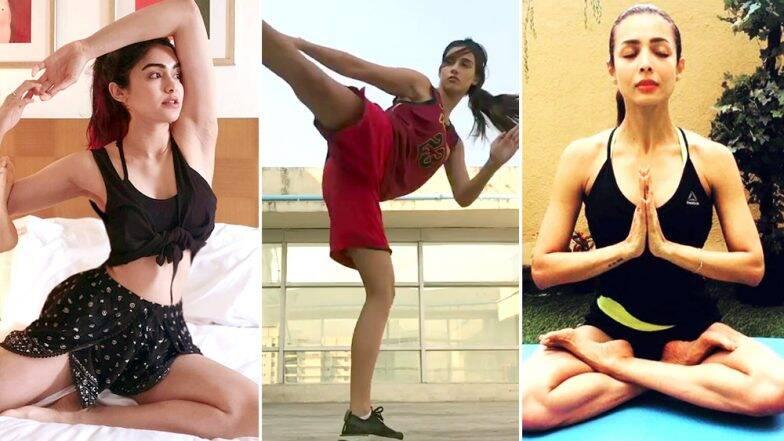 International Yoga Day 2019: बॉलिवूडच्या या '5' हॉट अभिनेत्री फिटनेससाठी करतात योगा; पहा व्हिडिओज