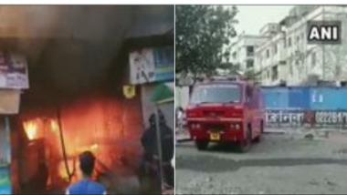 नालासोपारा येथील जाधव मार्केट मध्ये भीषण आग, 25 दुकानांचे मोठे नुकसान
