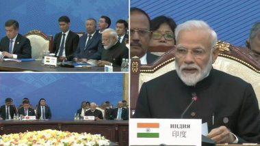 SCO Summit: दहशतवादाला पाठीशी घालणा-यांवर कारवाई होण्याची गरज, पंतप्रधान मोदींनी इमरान खान यांच्यासमोर पाकला लगावला टोला
