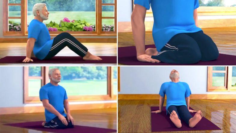 International Yoga Day 2019: तुम्ही हे आसन केले आहे का? असा प्रश्न विचारत पंतप्रधान नरेंद्र मोदी यांनी दिले वज्रासनाचे धडे
