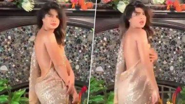 प्रियांका चोप्रा हिचा साडीत हॉट डान्स; चाहते घायाळ (Watch Video)