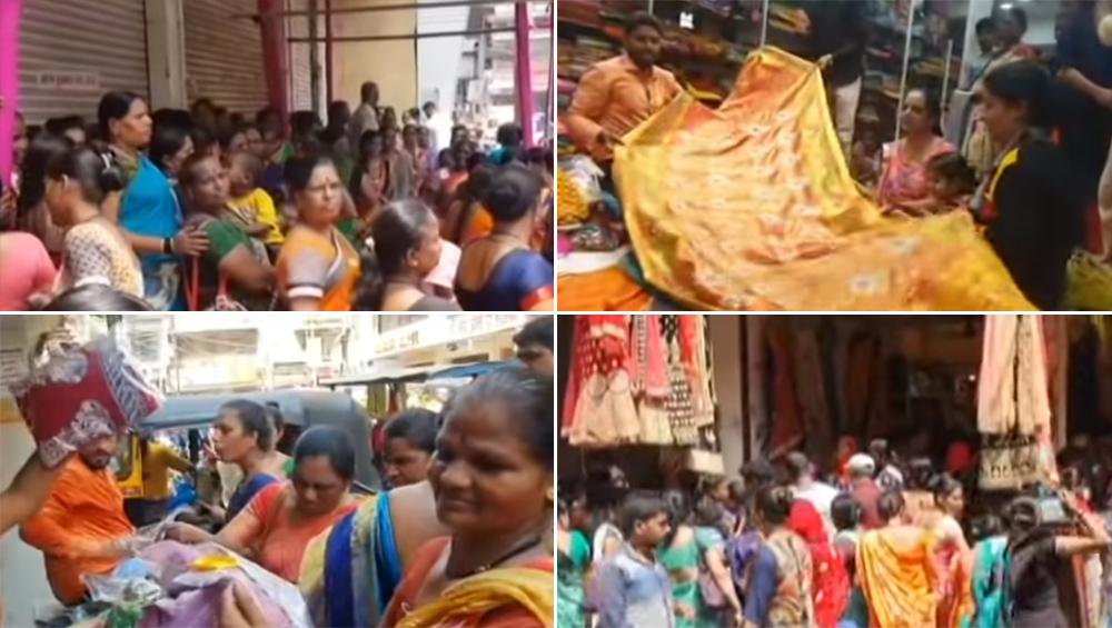मुंबई: उल्हासनगर मध्ये '10 रूपयांत साडी' ऑफरला ग्राहकांच्या तोबा गर्दीमुळे पोलिसांनी थांबवला सेल!