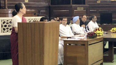 काँग्रेस पक्षाच्या संसदीय नेतेपदी सोनिया गांधी यांची नियुक्ती