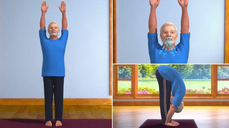 International Yoga Day 2019: तुम्ही पादहस्तासन करता का? असा प्रश्न विचारत नरेंद्र मोदी यांनी दिले योगासनांचे धडे