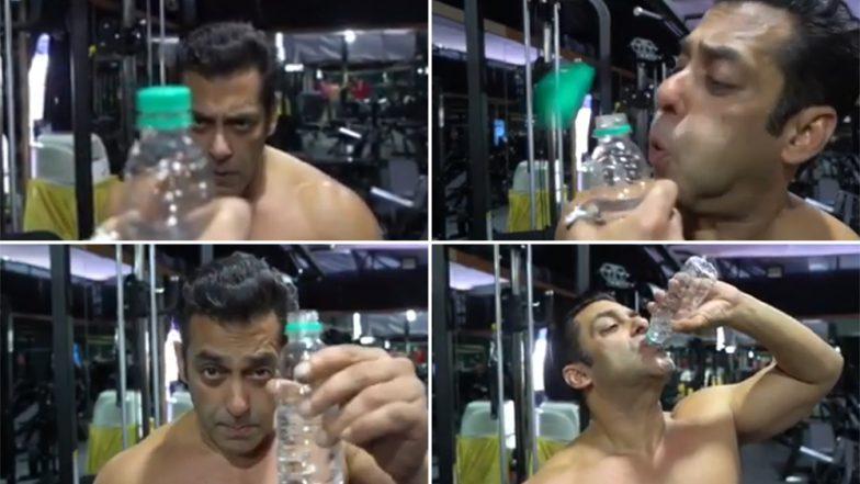 खास संदेशासह सलमान खान याचे हटके Bottle Cap Challenge; पहा व्हिडिओ