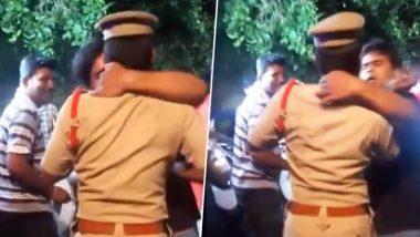 मद्यधुंद तरुणाचा प्रताप! नशेत चक्क एका पोलीस अधिकाऱ्याचाच  घेतला Kiss (Watch Video)