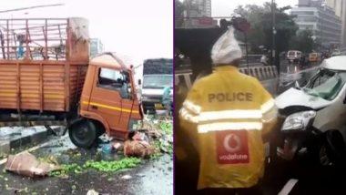जोगेश्वरी: पश्चिम द्रुतगती मार्गावर ट्रक उलटल्याने एकाचा मृत्यू, 5 जण गंभीर जखमी, वाहतुक ठप्प