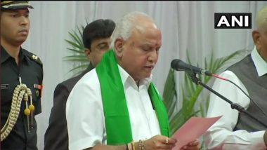 BS Yediyurappa कर्नाटकच्या मुख्यमंत्रीपदी विराजमान; चौथ्यांदा घेतली मुख्यमंत्रीपदाची शपथ