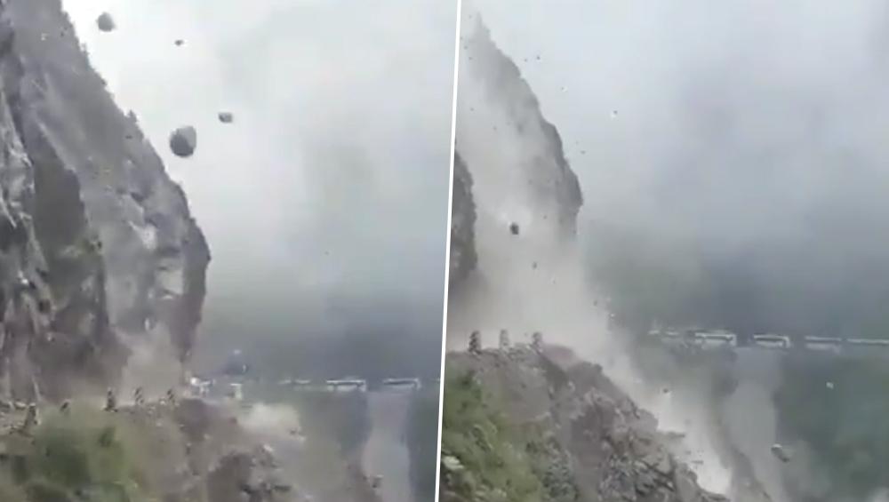माळशेज घाटाचं रौद्ररूप च्या नावाने सोशल मीडियात व्हायरल होतोय जम्मू - श्रीनगर हायवे वरील दरडीचा व्हिडिओ