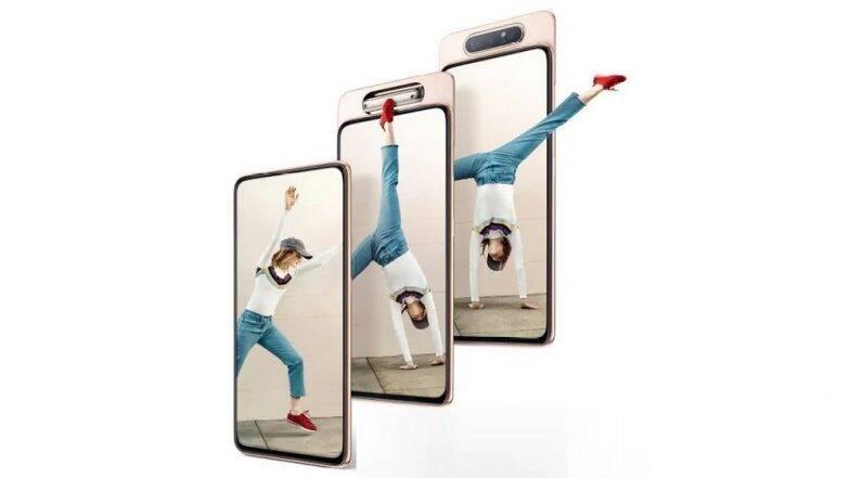 Samsung Galaxy A80 स्मार्टफोन 48MP रोटेटिंग कॅमेऱ्यासह भारतात लॉन्च; जाणून घ्या किंमत आणि फिचर्स