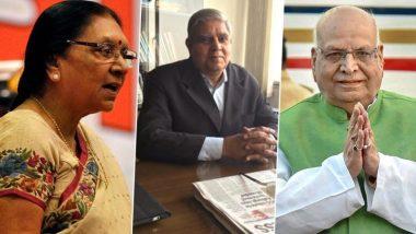 Centre appoints new Governors in 6 states:लालाजी टंडन मध्य प्रदेशचे राज्यपाल, फागू चौहान-बिहार, जगदीप धनखड - पश्चिम बंगाल तर, रमेश बैस यांच्याकडे त्रिपूराची जबाबदारी