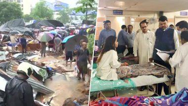Mumbai Rains: मालाड येथील पिंपरीपाडा परिसरात भिंत कोसळून 18 ठार; जखमींची विचारपूस करण्यास मुख्यमंत्री देवेंद्र फडणवीस शताब्दी रुग्णालयात