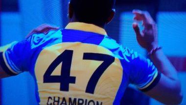 आपले खरे नाव ठेव! Global T20 लीगमध्ये ड्वेन ब्राव्हो याच्या जर्सी वर 'चॅम्पियन टॅग' पाहून सायमन डौल संतापले