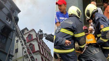 मुंबई मधील चर्चिल चेंबर इमारती च्या तिस-या मजल्यावर भीषण आग, इमारतीत अनेक लोक अडकल्याची शक्यता
