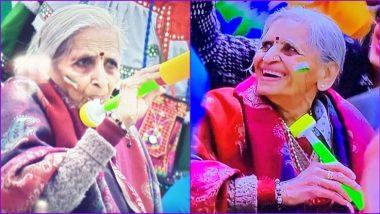Team India ला प्रोत्साहन देताना पिपाणीवाल्या आजीबाईचा क्युटनेस पाहून सौरभ गांगुली, हर्षा भोगले यांच्यासह Social Media फिदा