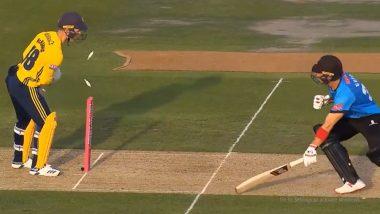 'Captain Cool' एम एस धोनी स्टाईल विकेट घेतल्यावर हॅम्पशायर मधील क्रिकेट चाहते खूश; विकेटकीपरने दाखवला उत्कृष्ट खेळीचा नमूना, पहा (Video)