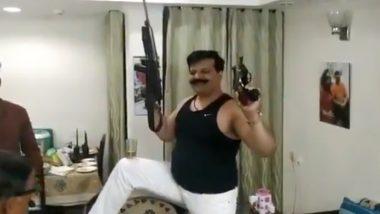 हातात बंदुक घेऊन भाजप आमदार कुंवर प्रणव सिंह चैंपियन यांची दारु पार्टी VIDEO VIRAL