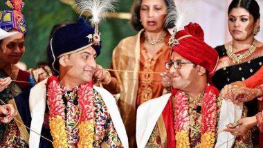 पराग आणि वैभव या दोन भारतीय तरुणांचा अमेरिकेत अनोखा विवाह; पहा फोटोज