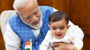नरेंद्र मोदी यांचा चिमुकला 'Special Friend' नेमका आहे तरी कोण? (See Photo)