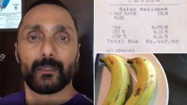 हॉटेलने दोन केळांसाठी आकारले 442 रुपये; राहुल बोसच्या 'त्या' व्हिडीओ नंतर कर विभागाकडून 25 हजारांचा दंड