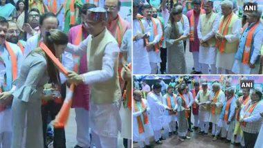 दिल्ली: डान्सर सपना चौधरी हिचा दिग्गज नेत्यांच्या उपस्थितीत भाजप पक्षात प्रवेश
