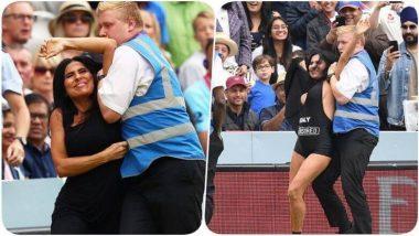 ENG vs NZ, ICC CWC 2019 Final: XXX वेबसाईटचा प्रचार करणारी अभिनेत्री  Elena Vulitsky हिची क्रिकेटच्या मैदानात धाव, पोलिसांनी हाकलले (Watch Video)
