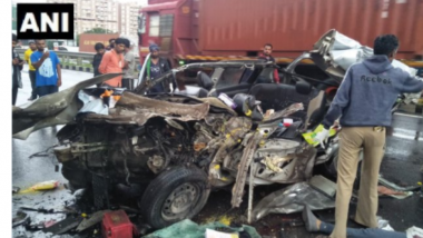 मुंबई-बंगळुरू महामार्गावर देहूरोड येथे भीषण अपघात, तीन जण ठार