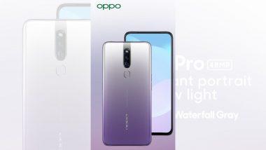 जबरदस्त कॅमेरा फिचर्स असलेला Oppo F11 Pro चा वॉटर ग्रे वेरियंट भारतात लाँच, जाणून घ्या किंमत आणि त्याची वैशिष्ट्ये