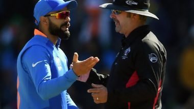 ICC World Cup 2019: IND vs BAN मॅचमध्ये अंपायरशी हुज्जत विराट कोहली ला पाडणार महागात, सामनाबंदीची होऊ शकते कारवाई