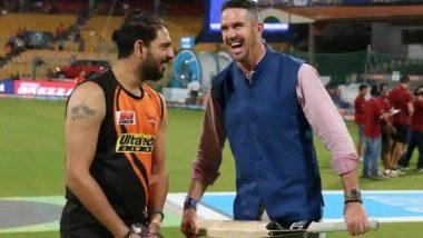 ICC World Cup 2019: IND vs BAN सामन्यात रोहित शर्मा याच्या शतकी खेळीनंतर युवराज सिंह याने घेतली केव्हिन पीटरसन याची फिरकी
